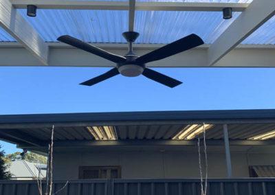 Ceiling fan installed