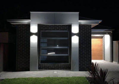 Havit up/down lights installed at the front of this home at Beverley